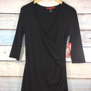 Hot Kiss Faux wrap black dress size XL